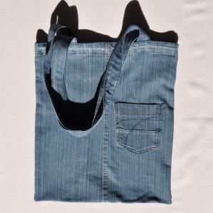 Džinsinis krepšys, terbelė, rankinė, maišelis kasdienai ir pirkiniams